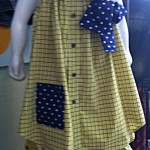Girl's Dress from Man's Shirt Yellow