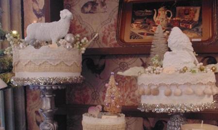 Repurposed Winter White Cakes