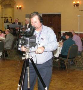 photo of David Kocol behind camera